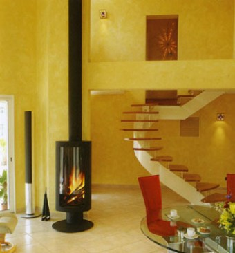 Wood, Gas, Free standing, Designers fireplaces